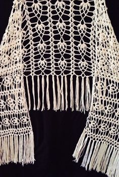 Valentina Shawl beautiful handmade crochet boho style shawl - Kalalani Creations - 1