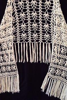 Valentina Shawl beautiful handmade crochet boho style shawl - Kalalani Creations - 1 Hippie Look, Hippie Chic, Crochet Lace, Crochet Stitches, Crochet Scarves, Neck Warmer, Boho Fashion, Knitting, Boho Style