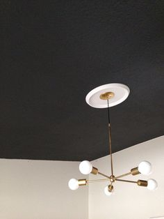 Gold Brass Chandelier modern mid century wall by triple7recycled, $345.00