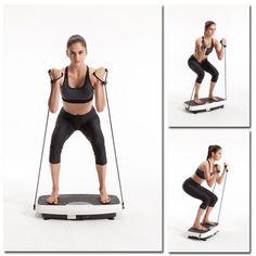 Vibrationstrainer Vibrationsplatte Ganzkörper 3D-Modus Fitness 500 Watt Training
