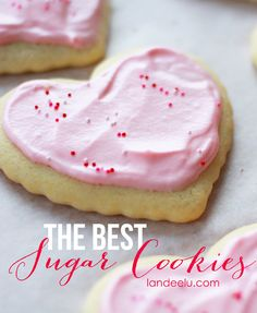 The best sugar cookie recipe for frosting and decorating! Delicious and sturdy so they won't break. Perfect paired with cream cheese frosting.