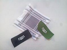 Bandanas de calavera y pañuelo palestino escala madelman