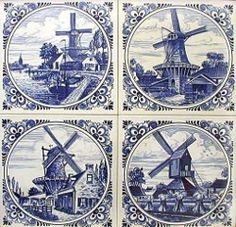 Tile Art, Mosaic Art, Mosaic Glass, Delft Tiles, Decoupage Glass, Holland Netherlands, Blue Pottery, Blue And White China, China Painting
