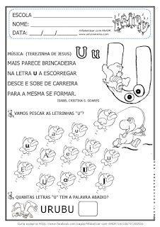 Alfabetizar com AMOR: MÚSICA COM AS VOGAIS O e U - 2º PERÍODO/ 1º ANO