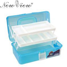 [Visit to Buy] 3 Layer Multi Utility Storage Case professional Nail Art box manicure kit nail tool Makeup box large size #60kj #Advertisement