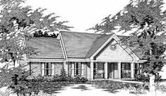 Ranch House Plan 91149 Elevation