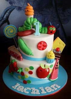 The Very Hungry Caterpillar Cake...one of my  favorite stories !!!
