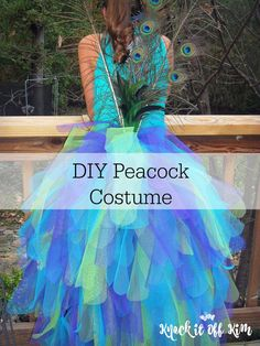 Learn how to make this majestic peacock costume at knockitoffkim.com. Made with layers and layers (and layers) of stiff tulle, all attached to a modified long skirt with an elastic waist.