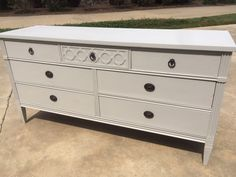 "Dresser in Fusion Mineral Paint ""Putty"". #FusionMineralPaint #FurniturePaint #PaintItBeautiful"