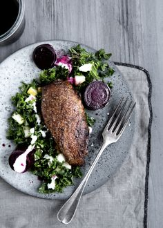 Wild duck with kale, horseradish and beets. Line Thit Klein & Mette Helbæk
