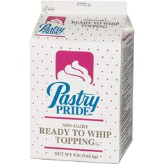 pastry pride non dairy whipped topping