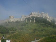Fog in the Spiš Castle, Slovakia