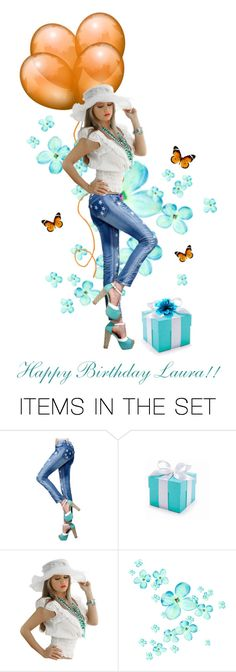"""#971 Happy Birthday Laura!!"" by ginger ❤ liked on Polyvore featuring art, birthday, butterflies, dolls, gifts and balloons"