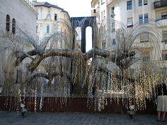The Tree of Life, Budapest, Hungary - holocaust memorial - each leaf bears a name.