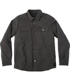 The RVCA Officers Shirt Jacket is a slim fit, midweight jacket with 1000mm coating and a VA checkered printed interior lining. It has chest pockets and ...