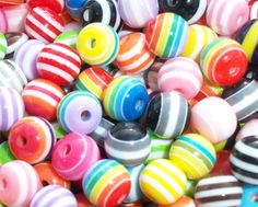 8mm striped beads  great for your bottle cap by BottleCapShack, $3.99