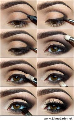 Eye Makeup Tips.Smokey Eye Makeup Tips - For a Catchy and Impressive Look Love Makeup, Makeup Tips, Makeup Tutorials, Makeup Ideas, Eyeshadow Tutorials, Easy Makeup, Black Makeup, Pretty Makeup, Gorgeous Makeup