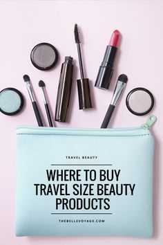 Where to Find Travel Size Beauty Products | The Belle Voyage.  A list of all the best places to buy travel size beauty products.  Create a perfect travel makeup kit filled with all of the essentials you need.