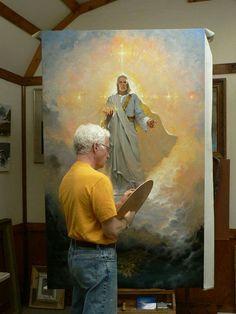 Jesus prophetic art painting by Brian Jekel. Christian Paintings, Christian Artwork, Catholic Art, Religious Art, Spiritual Paintings, Jesus Painting, Jesus Art, Prophetic Art, Biblical Art