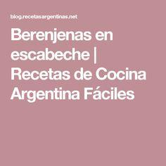 Berenjenas en escabeche | Recetas de Cocina Argentina Fáciles