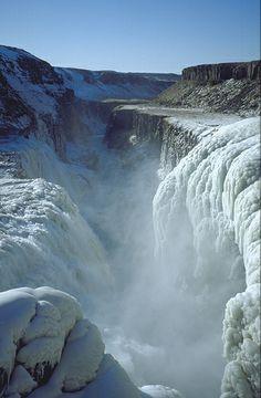 frozen waterfall, Gulfoss, Iceland