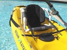 Plans for building all sorts of kayak adaptations, including sip and puff Adaptive Sports, Adaptive Equipment, Handicap Equipment, Handicap Accessible Home, Kayak Seats, Ocean Kayak, Kayak Accessories, Technology Design, Kayak Fishing