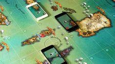 Les smartphones remplacent les pions dans ce jeu de société en réalité augmentée.[© Volumiques]