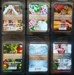 Tuscany Candle Winter Holiday Christmas 2015 Limited Edition Scented Wax Melts Review  http://www.scentedwaxreviews.com/2015/11/tuscany-winter-holiday-christmas-scented-wax-melts.html