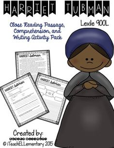 Lexile Level: 900L This short nonfiction passage about Harriet Tubman will be a perfect companion to your Black History month lessons and activities! This product includes the following:1) full page reading passage2) comprehension sheet3) writing activity It's my professional opinion that this product is best suited for grades 4-5. $