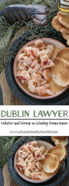 Dublin Lawyer (Lobster in Whiskey Cream Sauce)