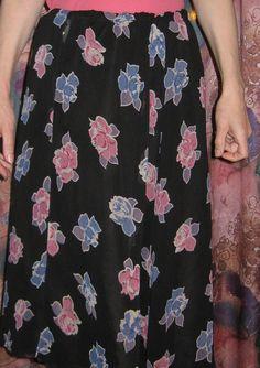 Винтажная женская юбка на подкладке. от VIRTTARHAR на Etsy