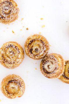 Pumpkin Cinnamon Puff Pastry Swirls