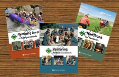 Draft versions of covers for the three new Venturing manuals