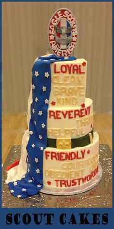 More Eagle Scout Cake ideas and decorating tips.