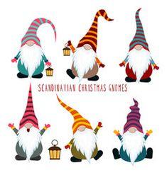 Cute cartoon gnome with heart Royalty Free Vector Image Christmas Rock, Christmas Gnome, Retro Christmas, Christmas Crafts, Christmas Ornaments, Christmas Presents, Wooden Ornaments, Christmas Design, Cartoon Mignon