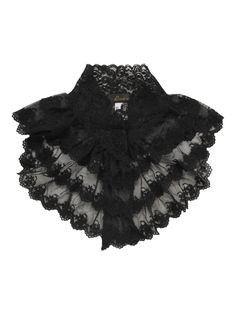 Black Gothic Victorian lace collar