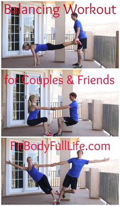 Balancing Workout for Couples & Friends from Fit Body Full Life (post includes v. Balancing Workout for Couples & Friends from Fit Body Full Life (post includes video) Toning Workouts, Fun Workouts, Buddy Workouts, Fitness Workouts, Exercises, Couples Workout Routine, Couple Workout, Physical Fitness, Yoga Fitness