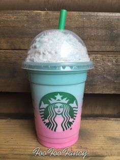 Starbucks Portable charger. special ombre by FooFooFancy on Etsy