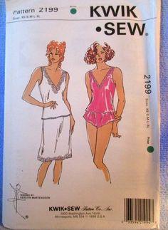Kwik Sew Misses Camisole Half Slip Panties Pattern #2199 Sizes XS S M L XL Uncut #KwikSew