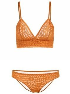 Seamless Lace Bra And Panties - Yellow 85a Yellow Bra 6c5998ea7