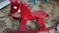 PERFECT GIFT Vintage / Painted Little Red by sistersvintageattic
