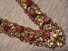 VINTAGE NECKLACE AND BRACELET SIGNED MICHAL NEGRIN - DESIGNER SET - bracelet, Designer, Michal, Necklace, Negrin, signed, Vintage - http://designerjewelrygalleria.com/michal-negrin/michal-negrin-necklaces/vintage-necklace-and-bracelet-signed-michal-negrin-designer-set/