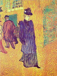 Henri de Toulouse-Lautrec - Jane Avril leaving the Moulin Rouge, 1893