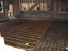 In Floor Radiant Heat with yellow wires