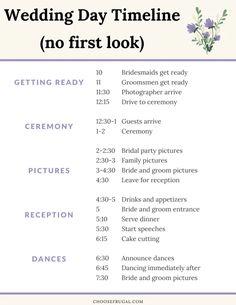 Order Of Wedding Reception, Wedding Reception Schedule, Wedding Day Checklist, Wedding Planning Timeline, Wedding List, Plan My Wedding, Wedding Ideas, Dream Wedding, Wedding Stuff