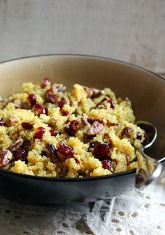 Cranberry Pecan Quinoa Salad with Honey-Orange Dressing - light, lovely and so delicious! @Monique Volz | Ambitious Kitchen