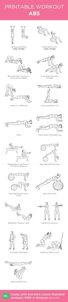 ABS – my custom workout created at • Click through to download as printable PDF! #customworkout