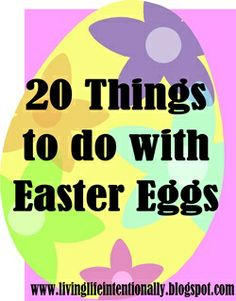 20 Creative, fun, and educational ideas for using plastic Easter eggs