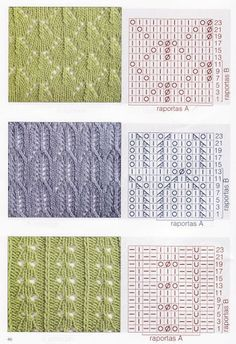 Find and save knitting and crochet schemas, simple recipes, and other ideas collected with love. Lace Knitting Patterns, Knitting Charts, Afghan Crochet Patterns, Knitting Stitches, Knitting Designs, Knitting Socks, Hand Knitting, Stitch Patterns, Crochet Motifs