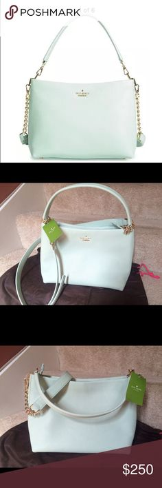 "♠️ Kate Spade ♠️ Emerson Lane Ryley Crossbody Bag Brand new with tag and dust bag. Authentic!!            🙋🏻 taking reasonable offer.                                         Cow leather; lining: polyester Imported Detachable top handle, detachable adjustable shoulder strap Zip closure; lined Two interior slip pockets, interior zip pocket Protective metal feet 10.75""L x 5.5""W x 8.5""H; 7.5"" handle drop, 21"" strap drop kate spade Bags Crossbody Bags"